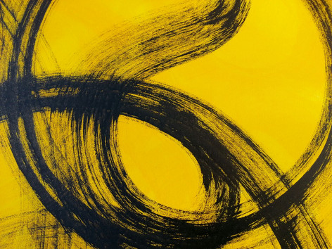 Detail of Invisible interconnections painting by abstract artist Adele Cloony