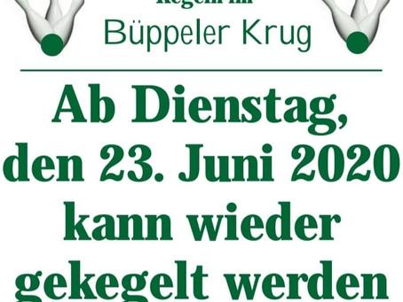 Ab 23. Juni darf wieder gekegelt werden!