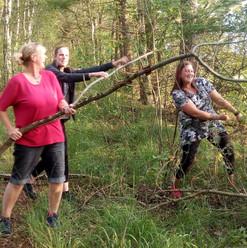 Aufräumaktion im Wald
