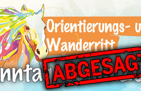 Wanderritt 2017 - ABGESAGT!
