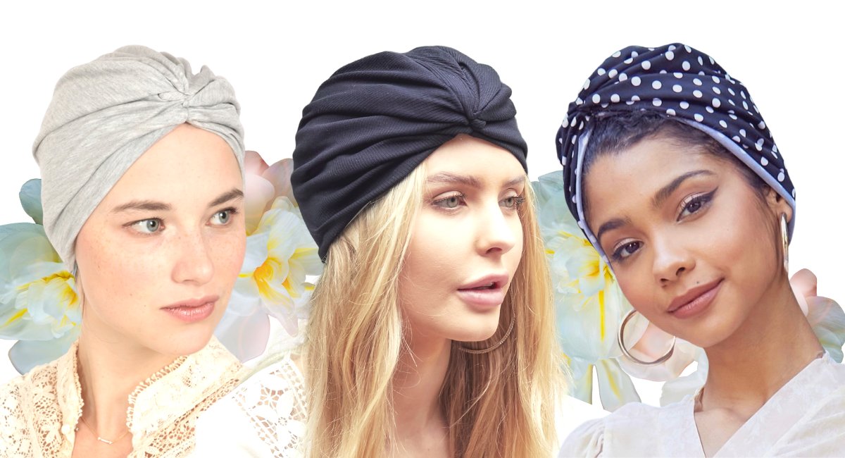 Sleep Turban Hair Wraps for Women by OKIYAH.