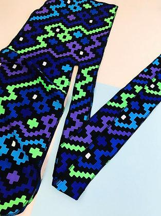Custom Designer Durag - Purple Geometry