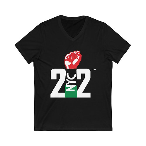 212 REP YO CITY // SPECIAL EDITION: Unisex Jersey Short Sleeve V-Neck Tee