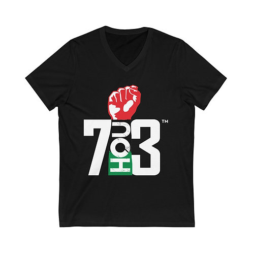 713 REP YO CITY // SPECIAL EDITION: Unisex Jersey Short Sleeve V-Neck Tee