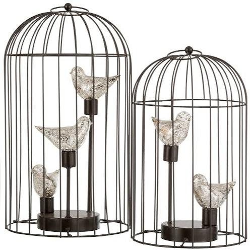 Lampe Led Cage Métal Large