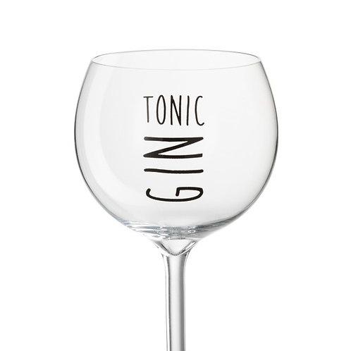 COFFRET 4 Verres Gin Tonic Transparent/Noir