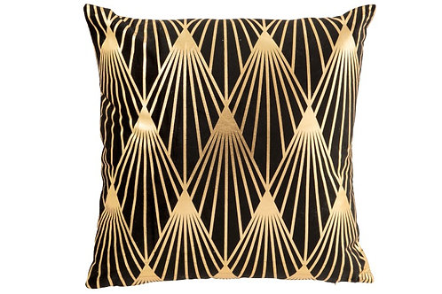 Coussin Gatsby Polyester Noir/Or