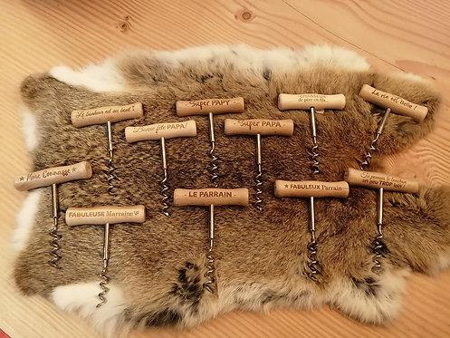 Ouvre-bouteille en bois divers modèles