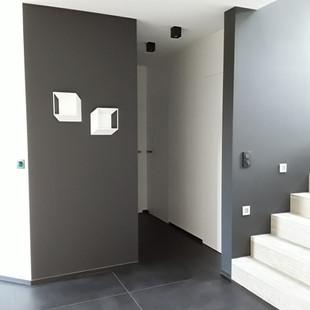 luminaire moderne, aménagement hall d'entrée