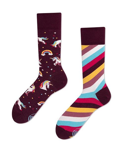 chaussettes dépareillées Licornes