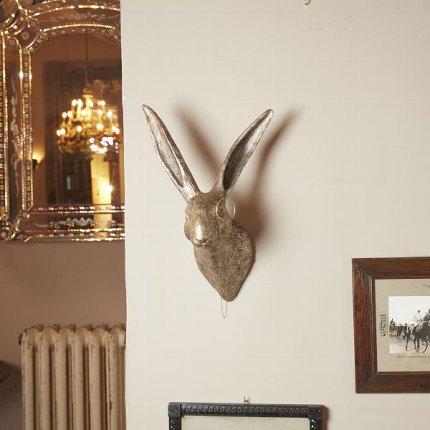Rabbit monocle, antique silver