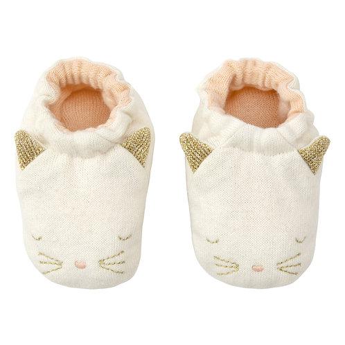 Chaussons chat en coton bio
