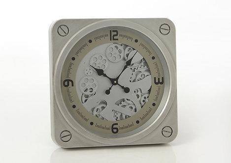 Horloge avec mécanisme  49cm argent