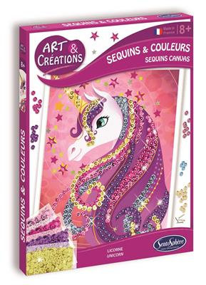 ART & CRÉATION - SEQUINS & COLOURS - LICORNE