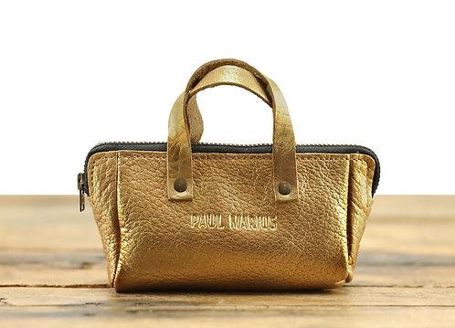 Un mini sac porte-monnaie DORÉ