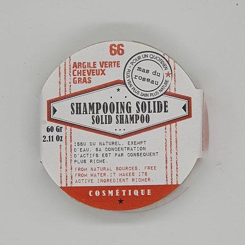 Shampooing Solide à l'Argile Verte - Cheveux gras - 60g