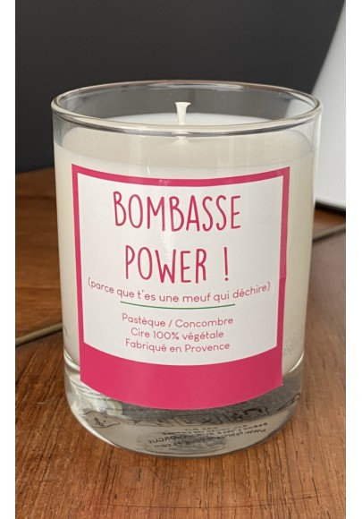 BOUGIE BOMBASSE POWER PARFUM PASTÈQUE CONCOMBRE
