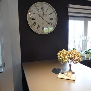 décoration murale horloge métal