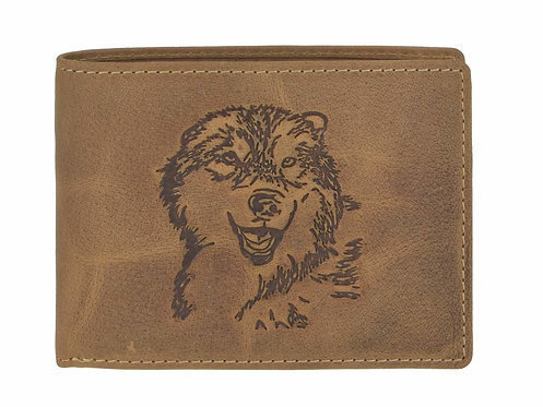 Portefeuille cuir loup