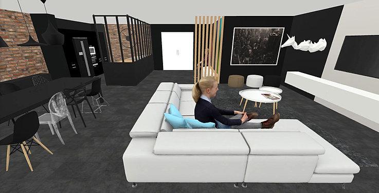 Conception 3D de pièces de vie et d\'espace professionnel
