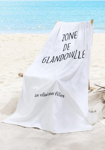 DRAP DE PLAGE XXL ZONE DE GLANDOUILLE