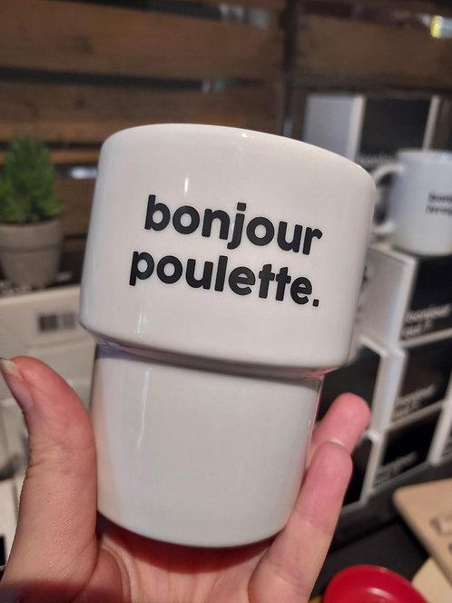 GOBELET BONJOUR Poulette