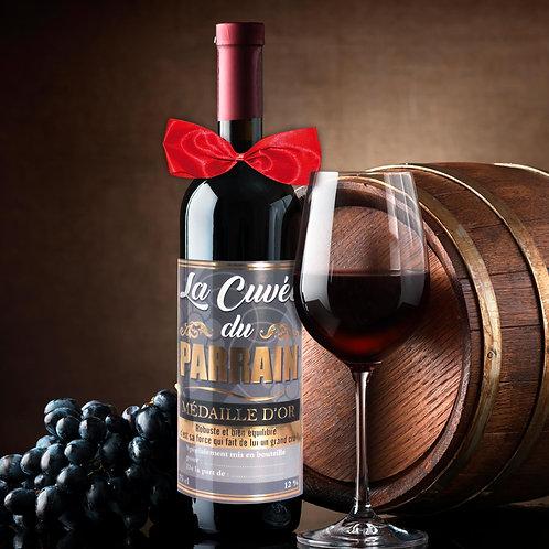 Bouteille de Vin Humoristique – Parrain
