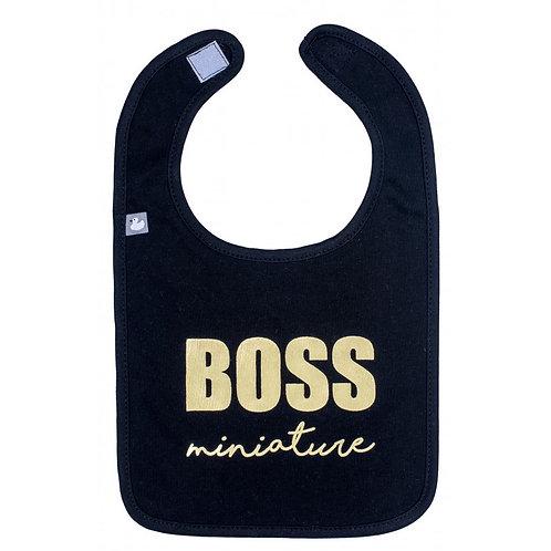 """Bavoir """"Boss miniature"""" noir"""