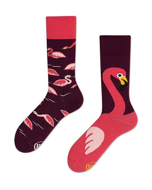 chaussettes dépareillées FLAMANT ROSE
