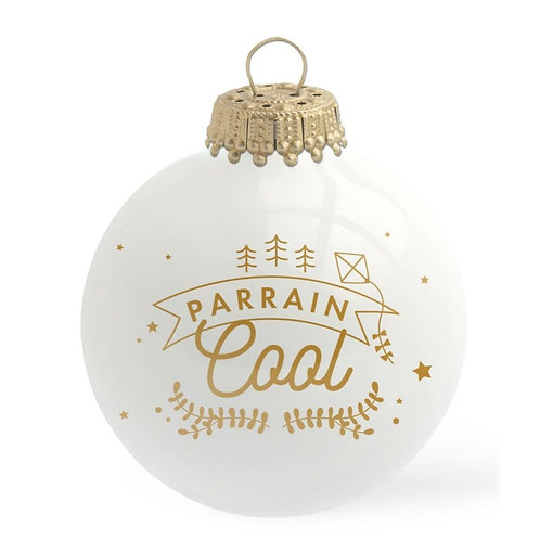 Boule de Noël en verre PARRAIN