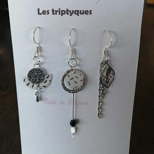 BOUCLES D'OREILLES, TRIPTYQUES