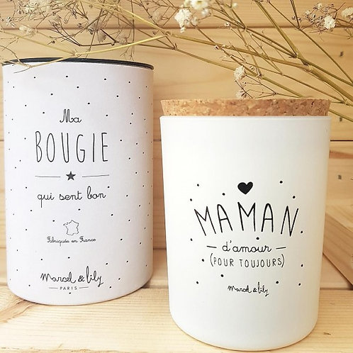 "BOUGIE SOJA ""MAMAN D'AMOUR"" MIEL"
