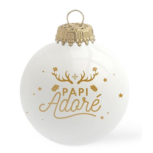 Boule de Noël en verre PAPI