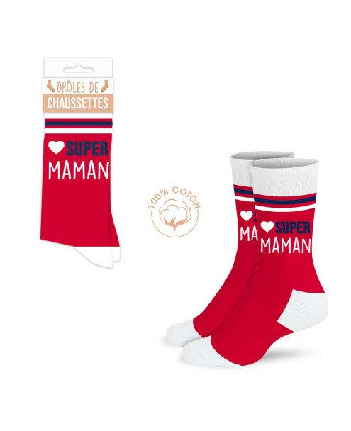 Chaussettes rigolotes Super Maman
