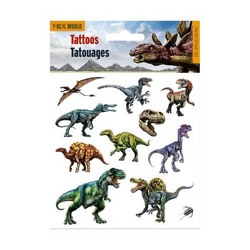 Tatouage de dinosaure (12 pièces)