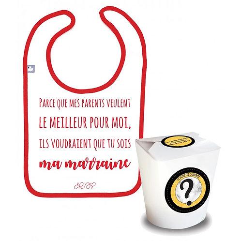 """Pochette Surprise Annonce """"ma marraine"""""""