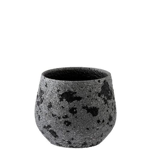 Cachepot Tache Ceramique Noir/Gris