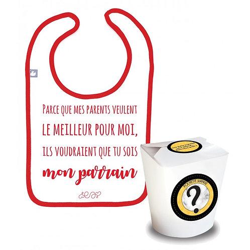 """Pochette Surprise Annonce """"mon parrain"""""""
