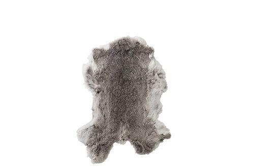 Peau De Lapin Decorative Peau Gris/Blanc