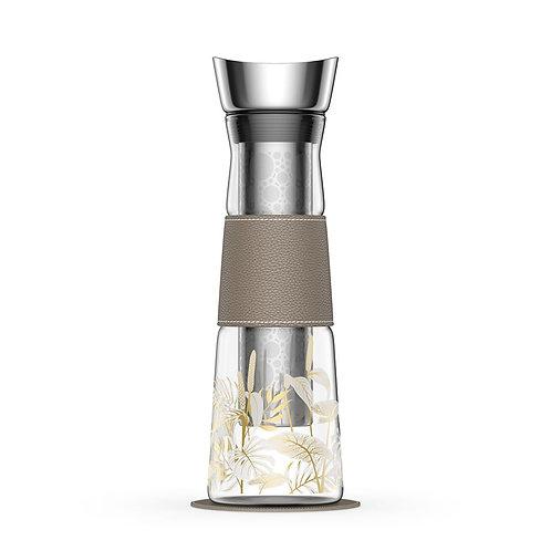 Carafe avec infuseur en verre pour le café ou le thé