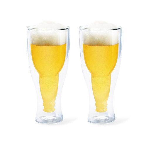 Verre à bièrede 400 ml Double paroi... 2pièces