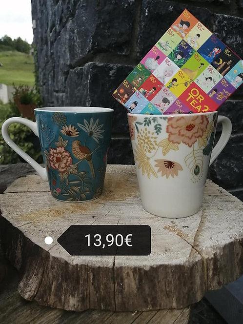 coffret tasses + thé