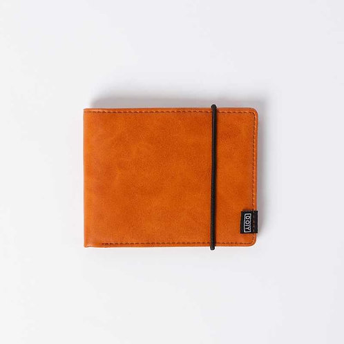 Portefeuille ORANGE cuir VEGAN