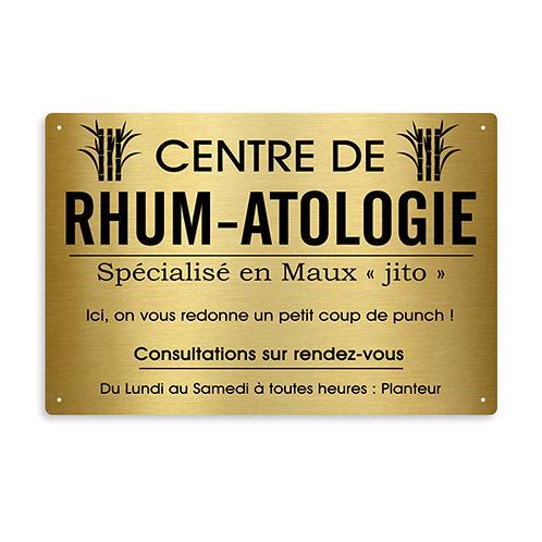 PLAQUE PROFESSIONNELLE RHUM_ATOLOGIE