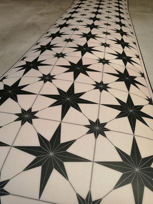 Chemin de table étoile en vinyle intérieur et extérieur