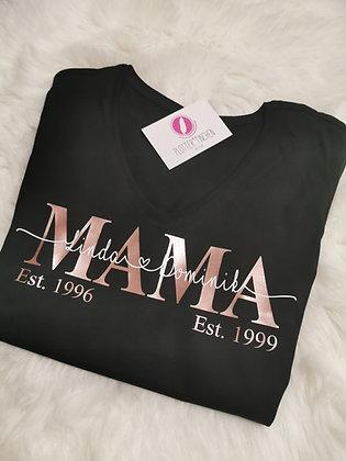 MAMA T-Shirt schwarz personalisiert