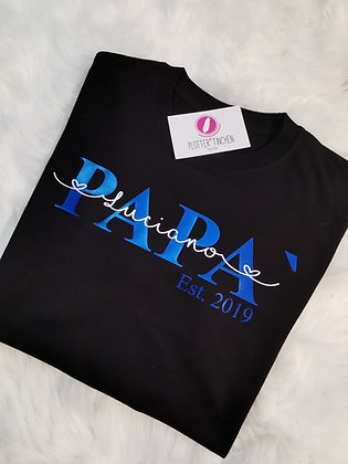 PAPÀ (Italienisch) T-Shirt schwarz personalisiert
