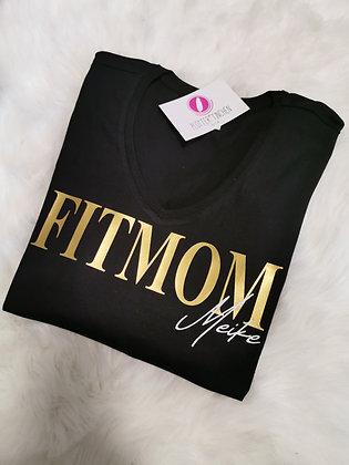 FITMOM T-Shirt schwarz mit Wunschname