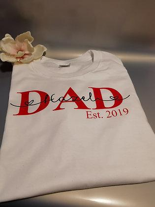 DAD T-Shirt weiß personalisiert