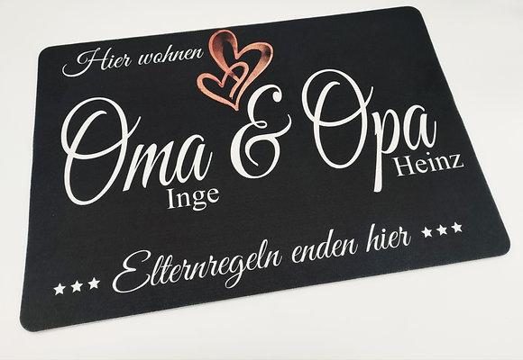 "Fußmatte ""Oma & Opa"" 40x60cm"